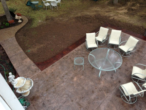 Finished Concrete Vault and Stamped Concrete Patio (1)