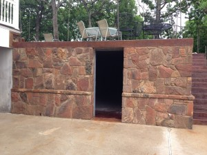 Finished Concrete Vault and Stamped Concrete Patio (3)