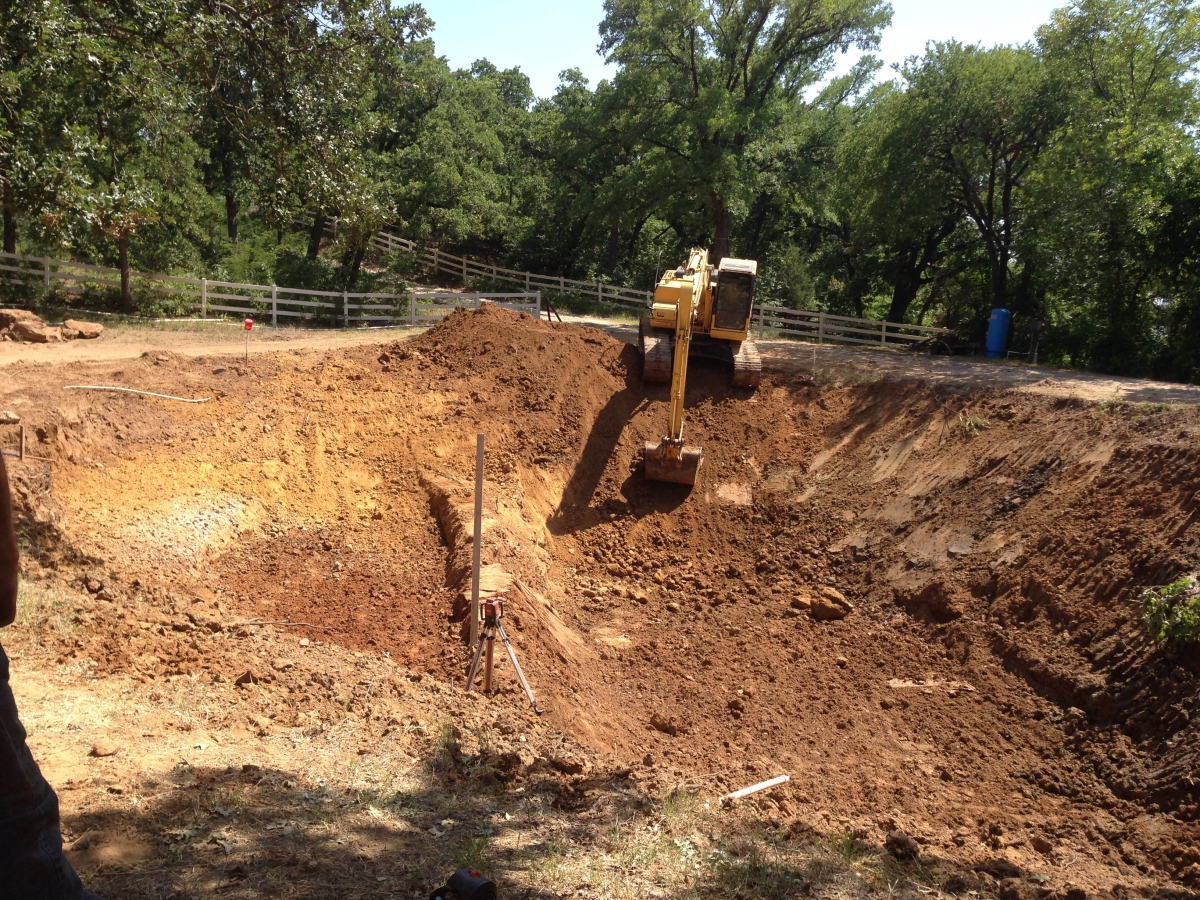 Fish pond lands construction for Koi pond builder